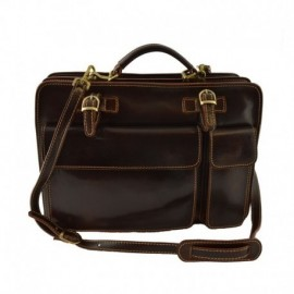 Leather Business Bag  - Code: 214