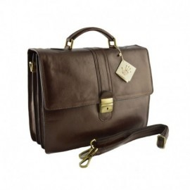 Leather Business Bag  - Code: 906