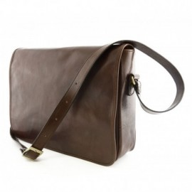 Leather Messenger Bag  - Code: 2009