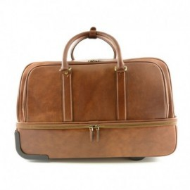 Leather Trolley Bag in with Laptop Sleeve  - Code: 1850-22