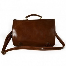 Business Briefcase in Genuine Leather with inside pockets  - Code: 255A