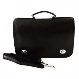 Genuine Leather Business Briefcase, 2 Compartments  - Code: 960