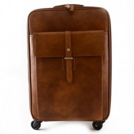 Genuine Leather Travel Trolley with Front Pocket  - Code: vd_13_997_20