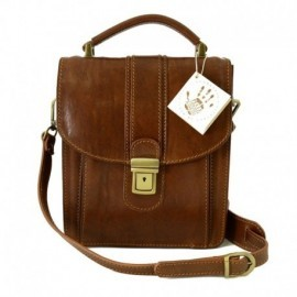 Man Matte Leather Bag   - Code: 103op