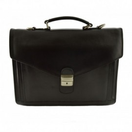 Leather Briefcase 2 Compartments  - Code: 902