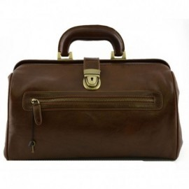 Genuine Leather Medical Bag with Front Pocket  - Code: BR_11_77