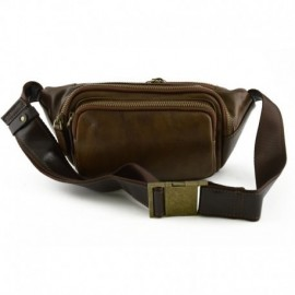 Genuine Leather Man Bum Bag with Pockets  - Code: VP1202