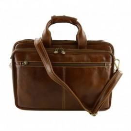 Genuine Leather Business Laptop Bag  - Code: 0040