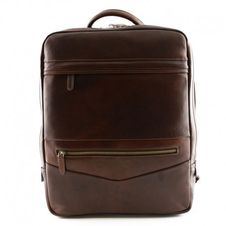 Genuine Leather Man Backpack with Laptop Pocket  - Code: giglio8802_2