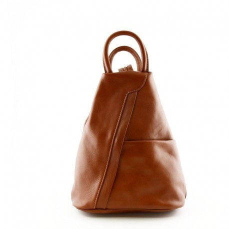 Backpack for Woman in Genuine Leather with Adjustable Straps  - Code: 880