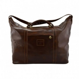 Genuine Leather Travel Bag  - Code: 438