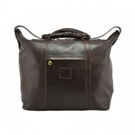 Genuine Leather Travel Bag  - Code: 547