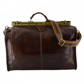 Genuine Leather Travel Bag  - Code: 2003