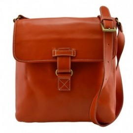 Genuine Leather Crossbody Bag  - Code: 608