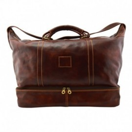 Genuine Leather Travel Bag  - Code: 437