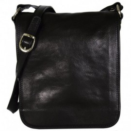 Genuine Leather Men Crossbody Bag  - Code: 600