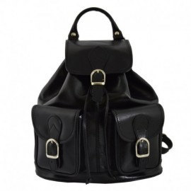 Genuine Leather Backpack  - Code: 777