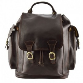 Genuine Leather Backpack  - Code: 888