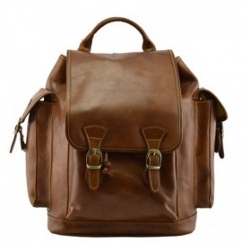 Genuine Leather Backpack  - Code: 888_VEGETALE
