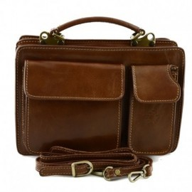 Genuine Leather Business Bag mod. Mini  - Code: 213_opaco