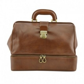 Genuine Leather Doctor Bag with Double Bottom  - Code: 1999